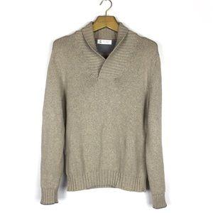 BRUNELLO CUCINELLI Cowl Neck Tan Cotton Sweater M